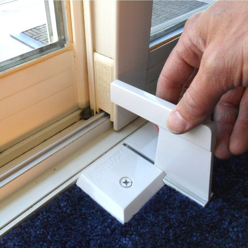 Nightlock White Sliding Patio Door Security Lock 13005 The Home