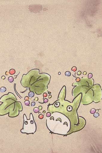 Cute Totoro Phone Wallpaper Studio Ghibli Fanart Totoro Art Ghibli Art