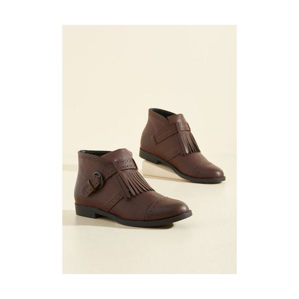 50d8c43b356 Rocket Dog Menswear Inspired Plead Kiltie Bootie (210 ILS) ❤ liked on  Polyvore featuring