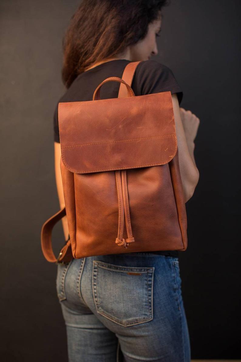 Mochila de cuero, mochila de cuero mujeres, mochila de cuero marrón, mochila de la cámara, mochila vintage, mochila de cuero, mochila del ordenador portátil