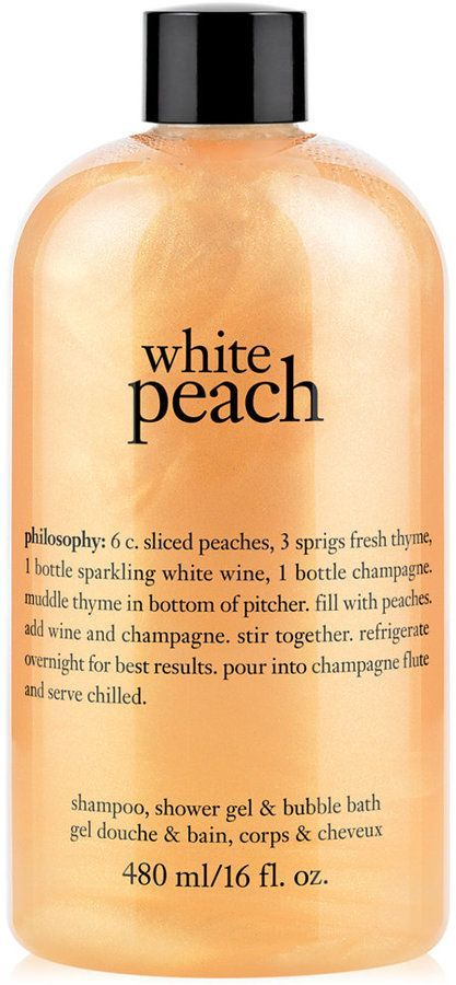 Philosophy White Peach Shampoo Shower Gel Bubble Bath Created For Macy S Shower Gel Shampoo Philosophy Skin Care