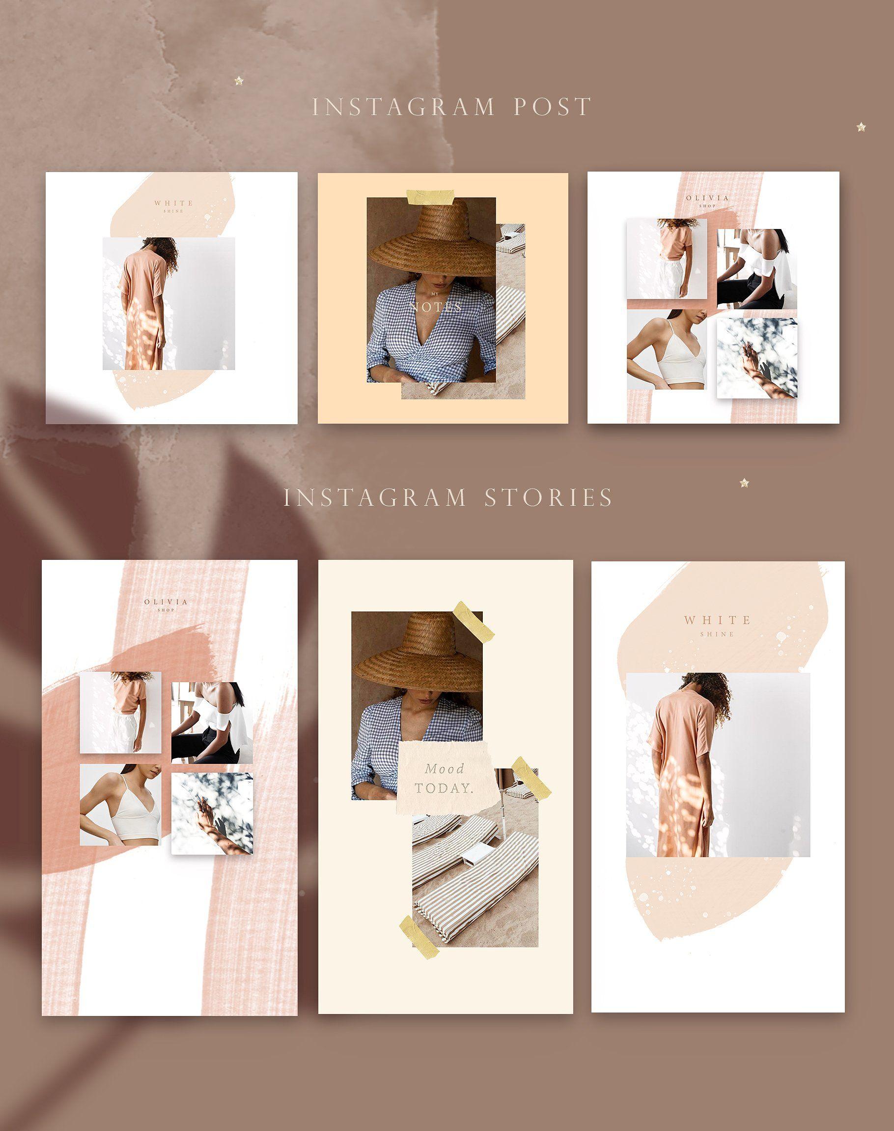 Modern Animated Stories Post Instagram Template Design Instagram Design Portfolio Design Layout