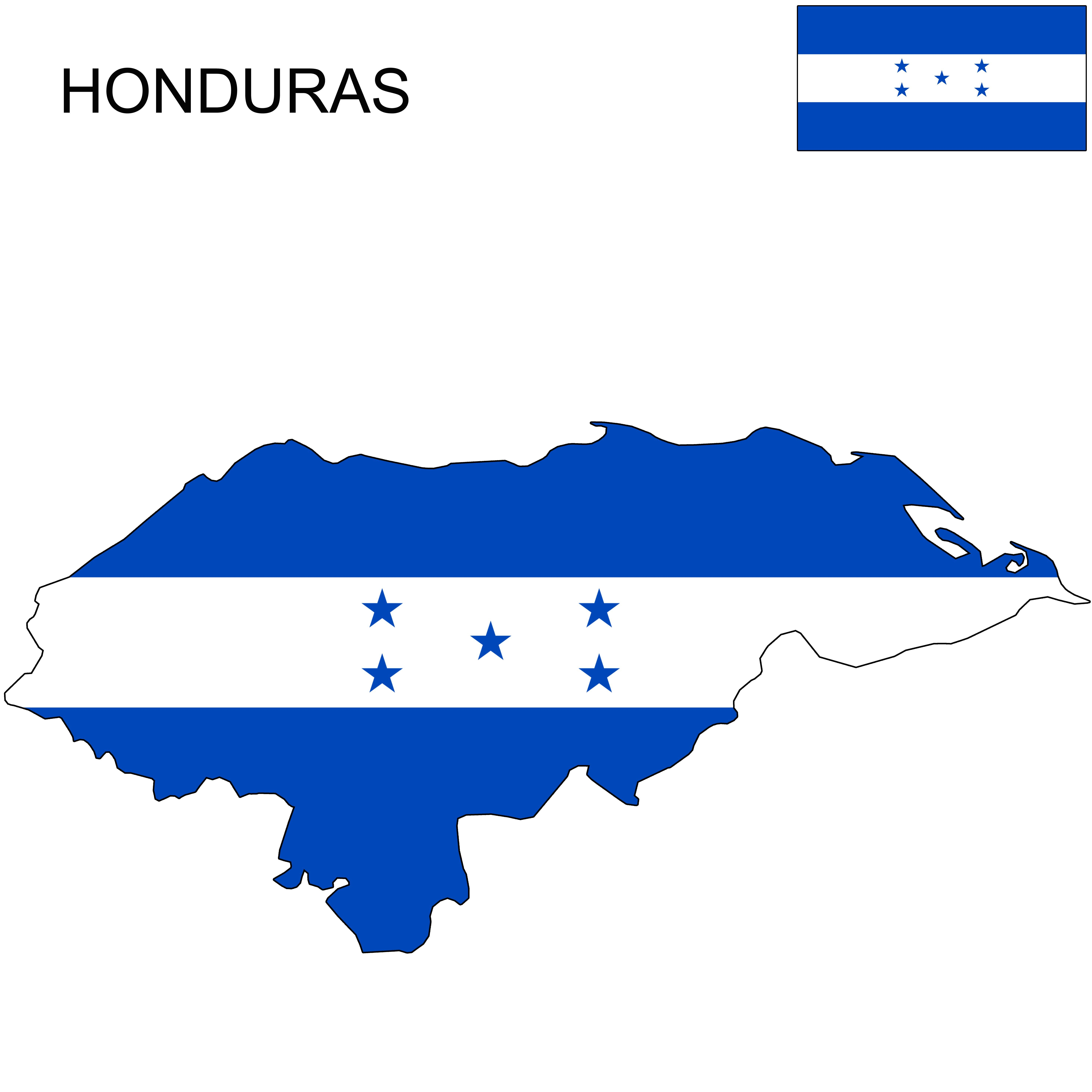 Honduras Honduras Flag Map Honduras Flag Flag Honduras