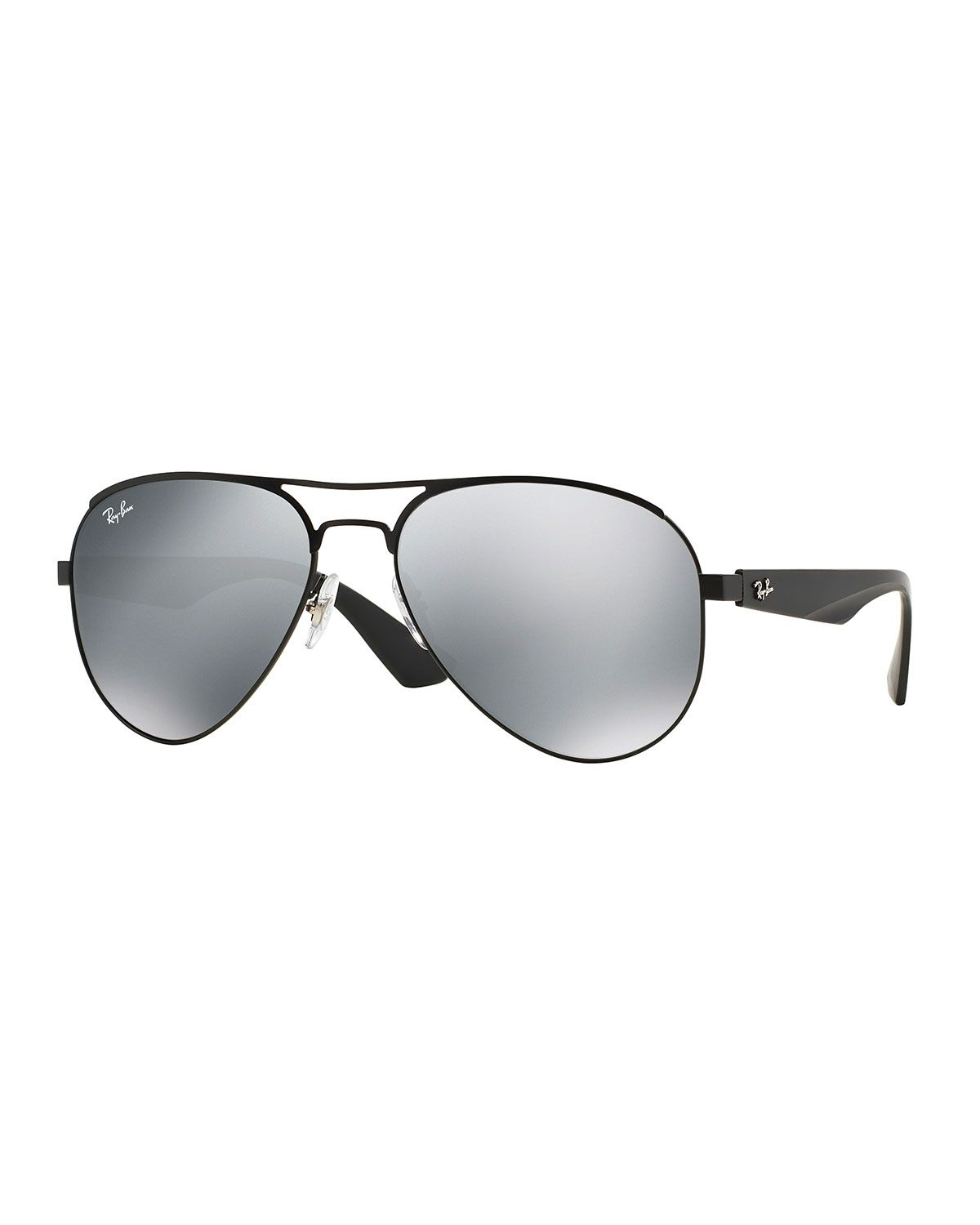 be400973fbf3e Rayban Aviator Sunglasses With Mirror Lens in Black for Men Lyst ...
