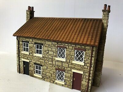 OO Gauge Scratch Built Semi Detached Stone Cottage, Suits Scenecraft, Skaledale   eBay