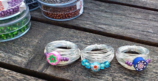 traumschnitt: Fingerringe aus Draht und Perlen | Draht | Pinterest ...