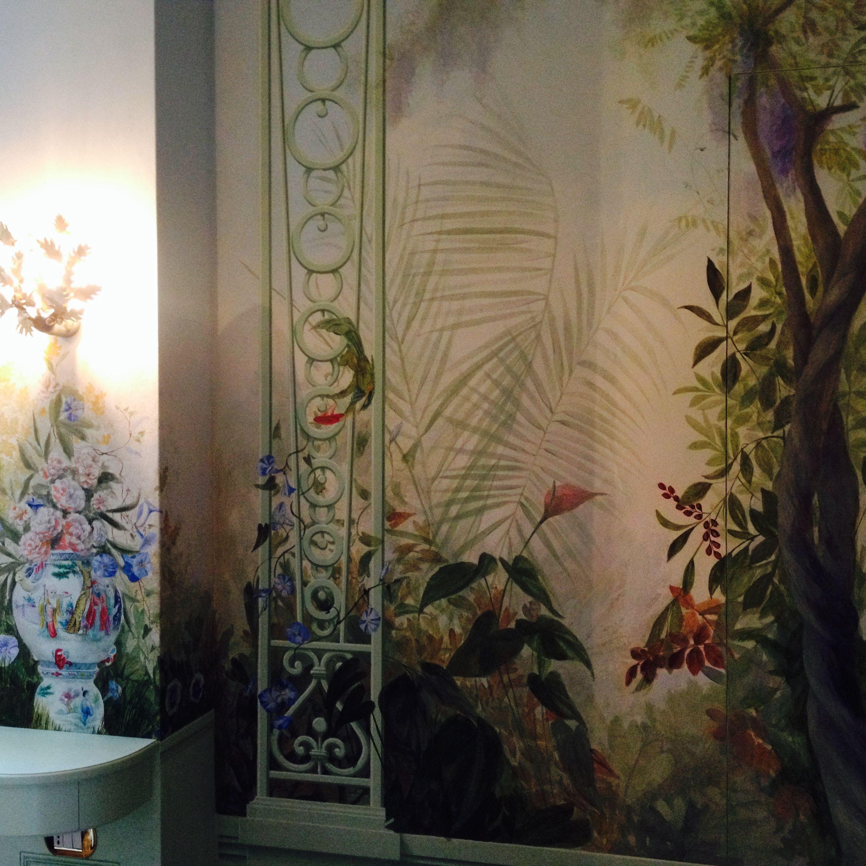 Roberta Dori Puddu Interiors Trompe Loeil Giardino Incantato Rdpstudiogmail
