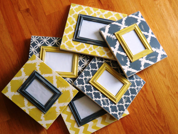 Still Love This Grouping Chevron And Moroccan Grey And Yellow 6