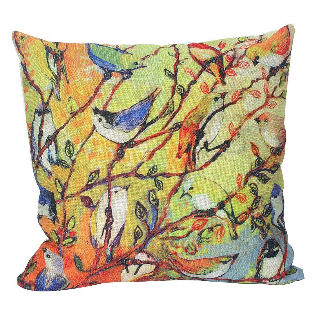 Decorative Spring Pillows can freshen up a room quickly and economically. Fresh spring colors and themes are a breath of fresh air after the winter.