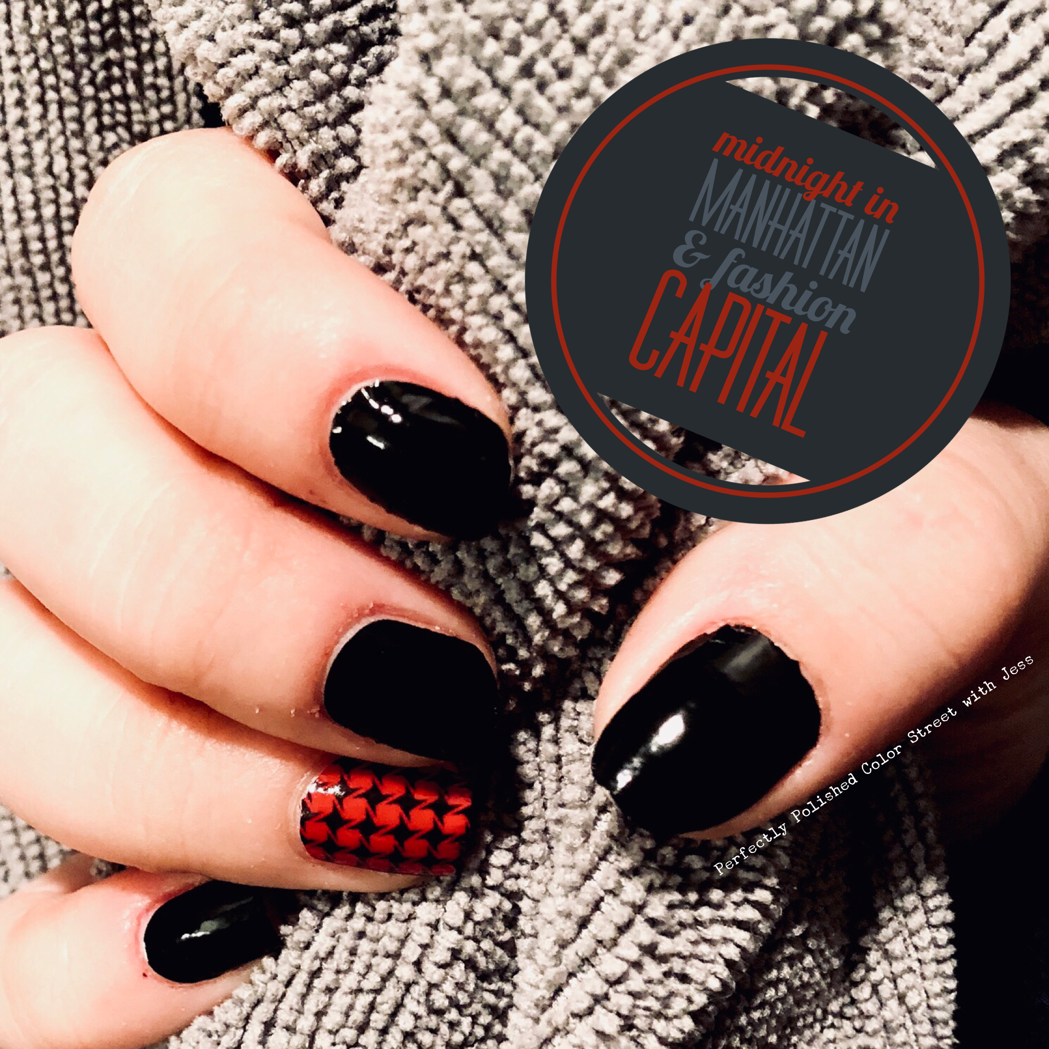Midnight In Manhattan With Fashion Capital Accent Nail Color Street Nails Colorstreet Midnightinmanhattan Fash Color Street Nails Color Street Nail Colors