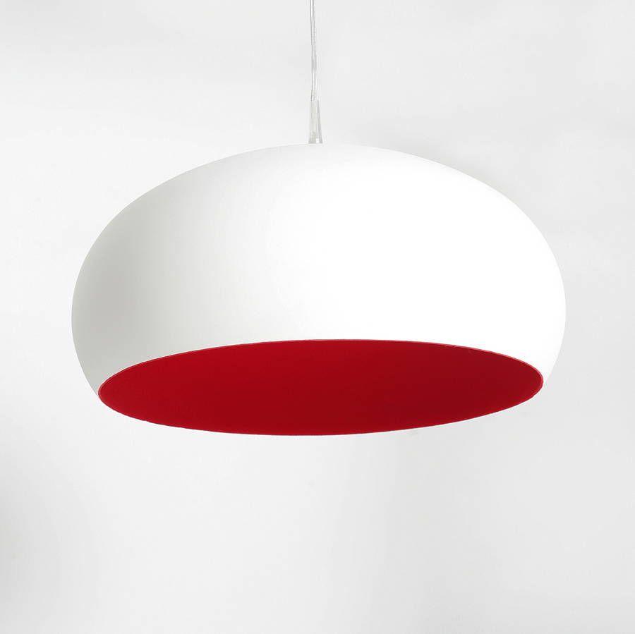 red pendant lighting. Flocked Dome Ceiling Pendant Light By Thomas \u0026 Vines | Notonthehighstreet.com Red Lighting D