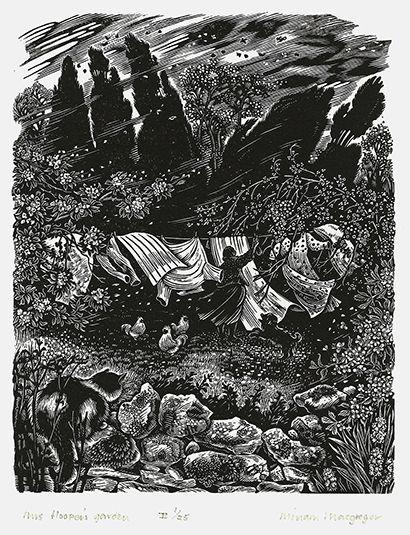 Miriam Macgregor ~ Mrs. Hooper's Garden ~ Wood Engraving