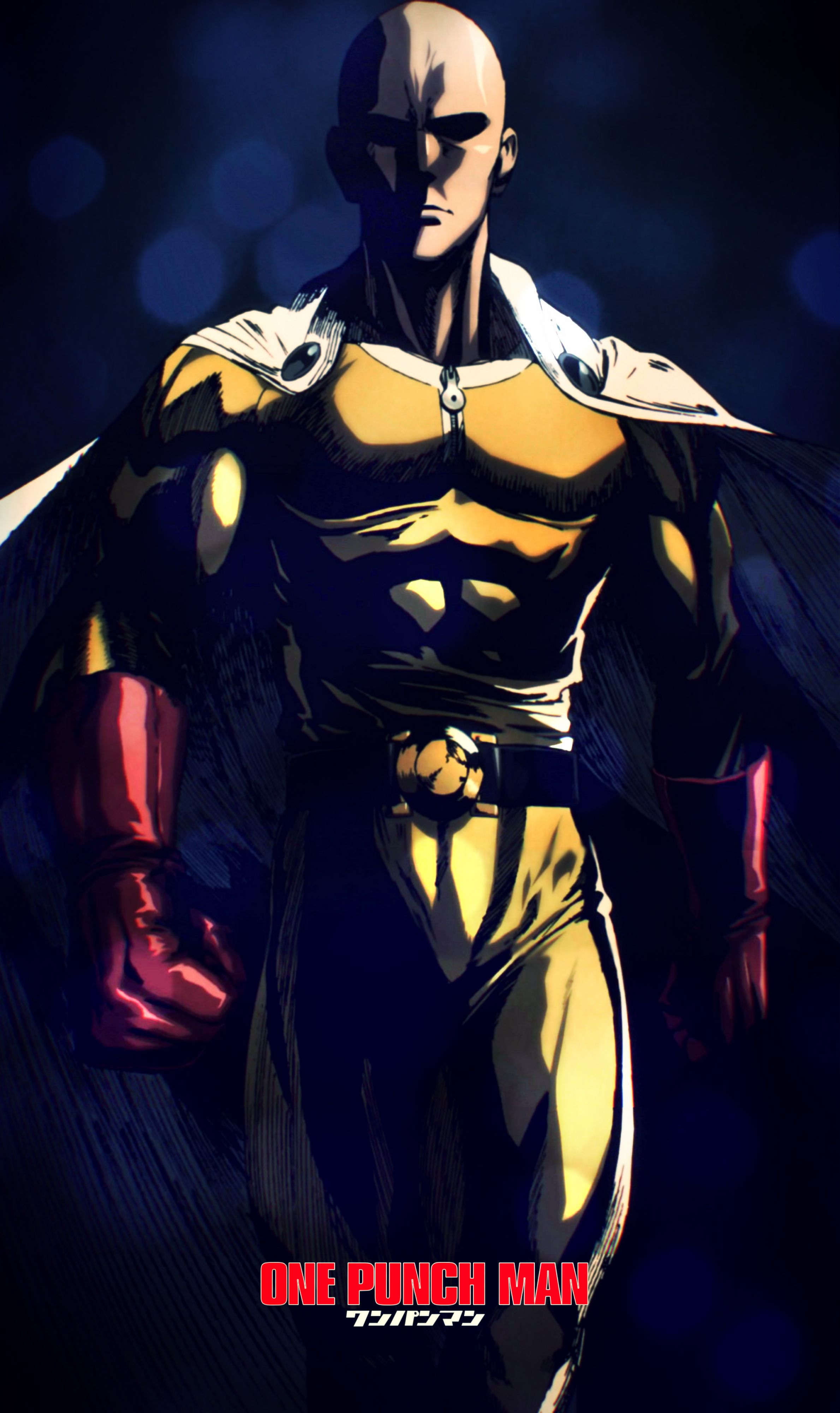 One Punch Man Saitama Wallpapers Iphone Gambar Kartun