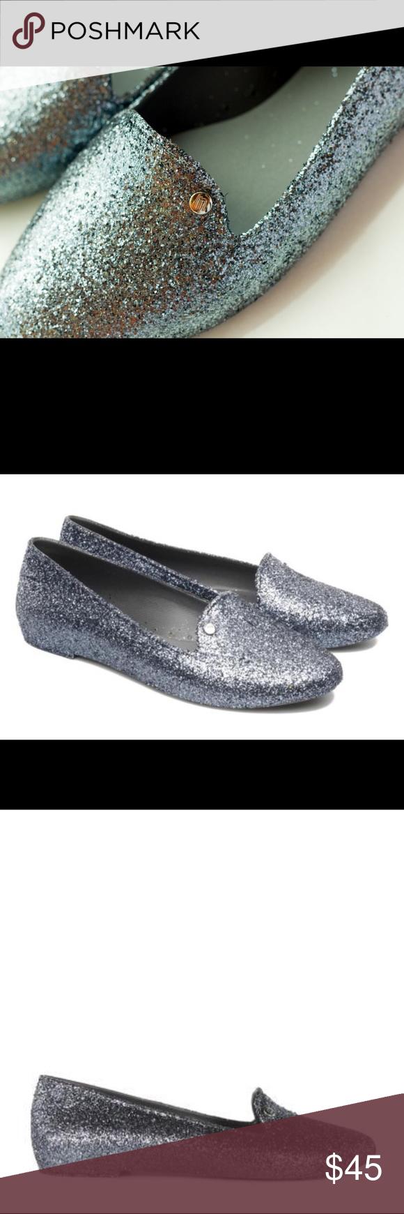2caced5483c EUC Melissa Virtue Gunmetal Grey Glitter Flats EUC! No obvious signs of  wear! The