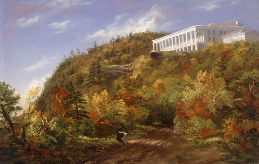 A View Of The Catskill Mountain House 1848 By Sarah Cole Albany Institute Of History And Art Hudson R Autumn Landscape Autumn Painting Landscape Paintings