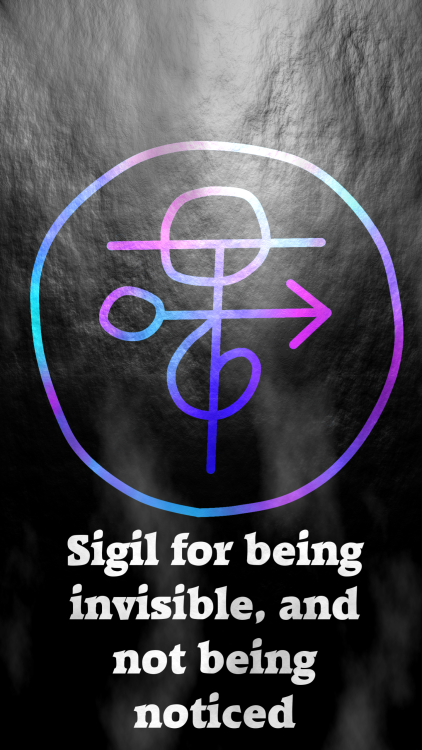 Sigil For Being Invisible And Not Being Noticed Magia Magic