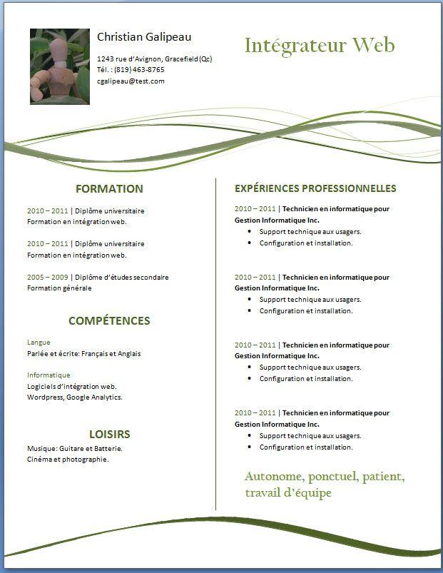 Exemple De Cv 7 Jpg Image Jpeg 621 803 Pixels Curriculum Vitae Curriculum Motivation