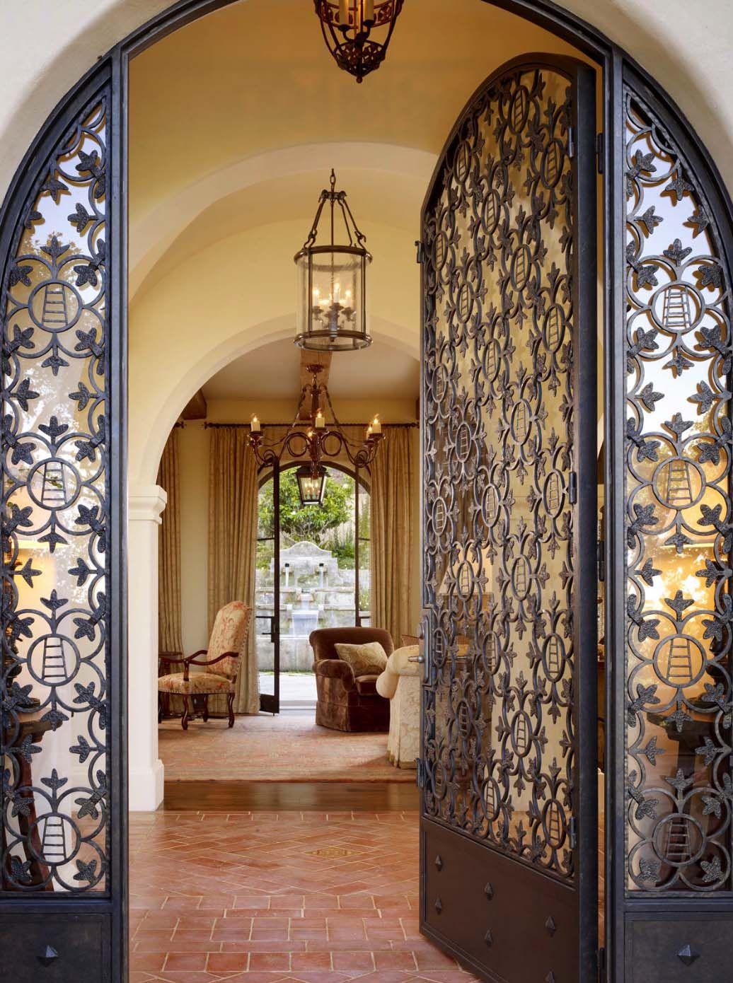 Spanish style hacienda in carmel valley showcases inviting for Hacienda style lighting