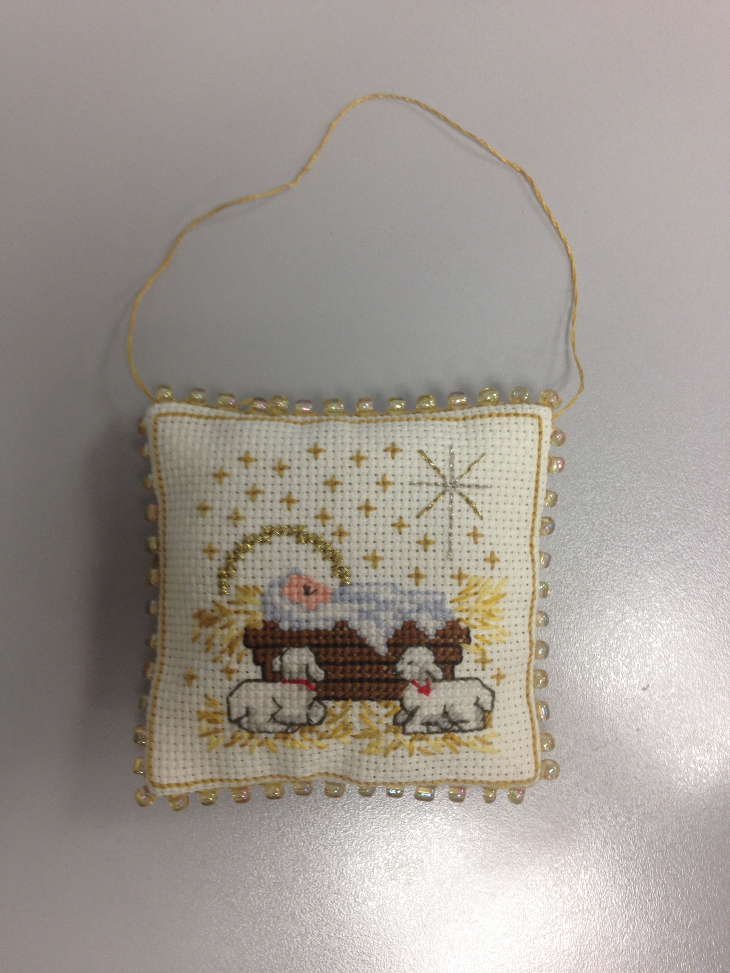 Cross Stitch Nativity Ornament | Cross Stitch Christmas Ornaments ...