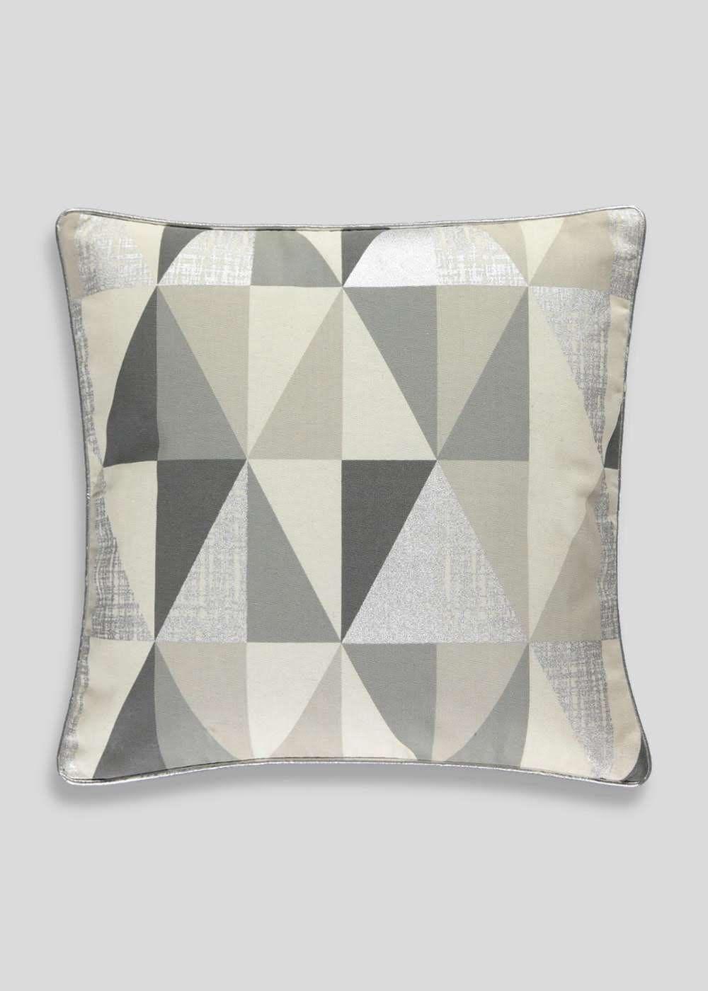 Metallic Geo Print Cushion (48cm x 48cm) View 1