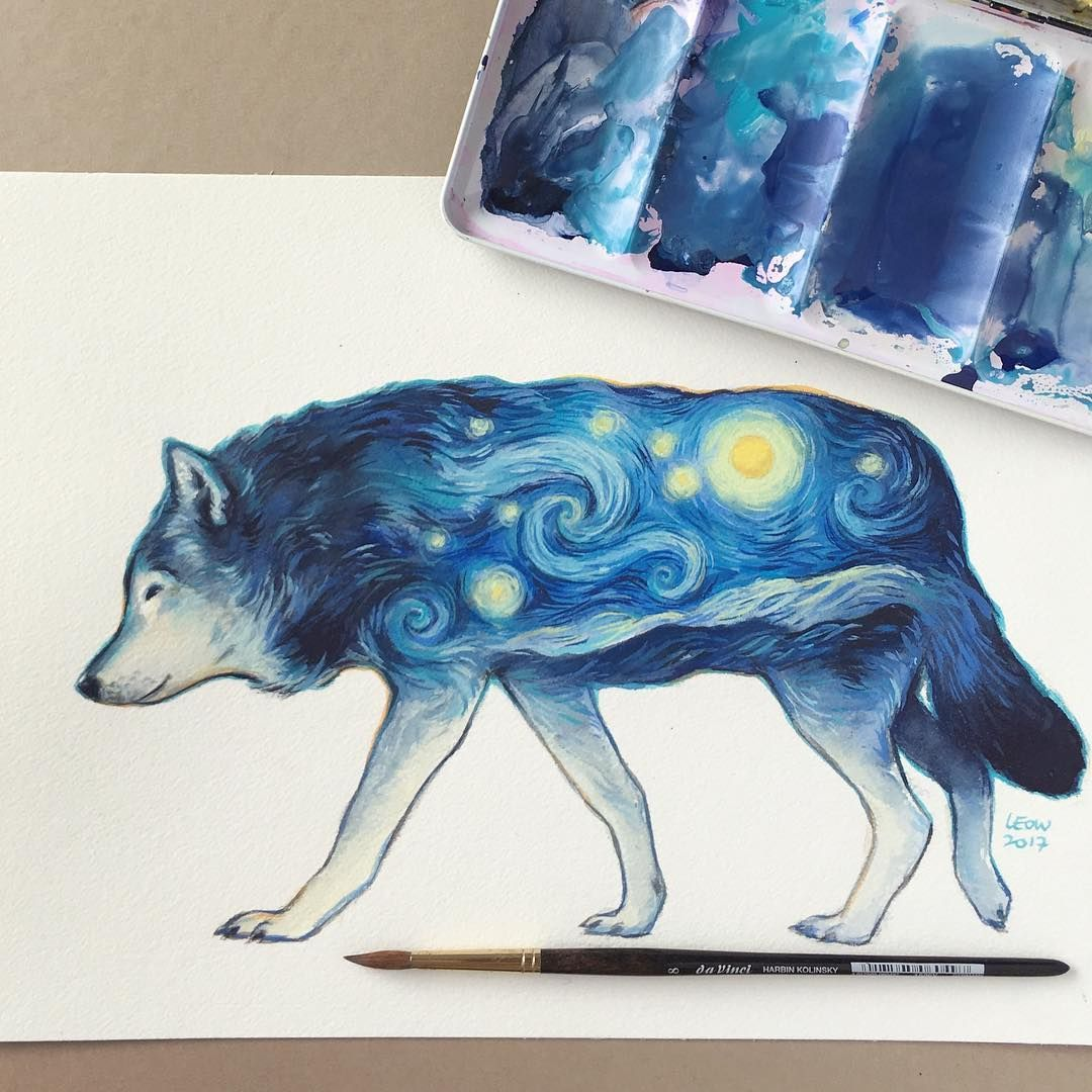 Wolf Schmincke Watercolor Gouache On Arches Rough Paper