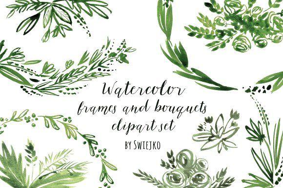 Watercolor Frames by swiejko on @creativemarket