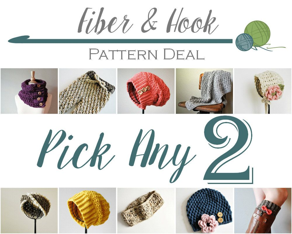 Pick Any 2 Patterns - CROCHET PATTERNS DEAL - pdf | Crochet Beanie ...