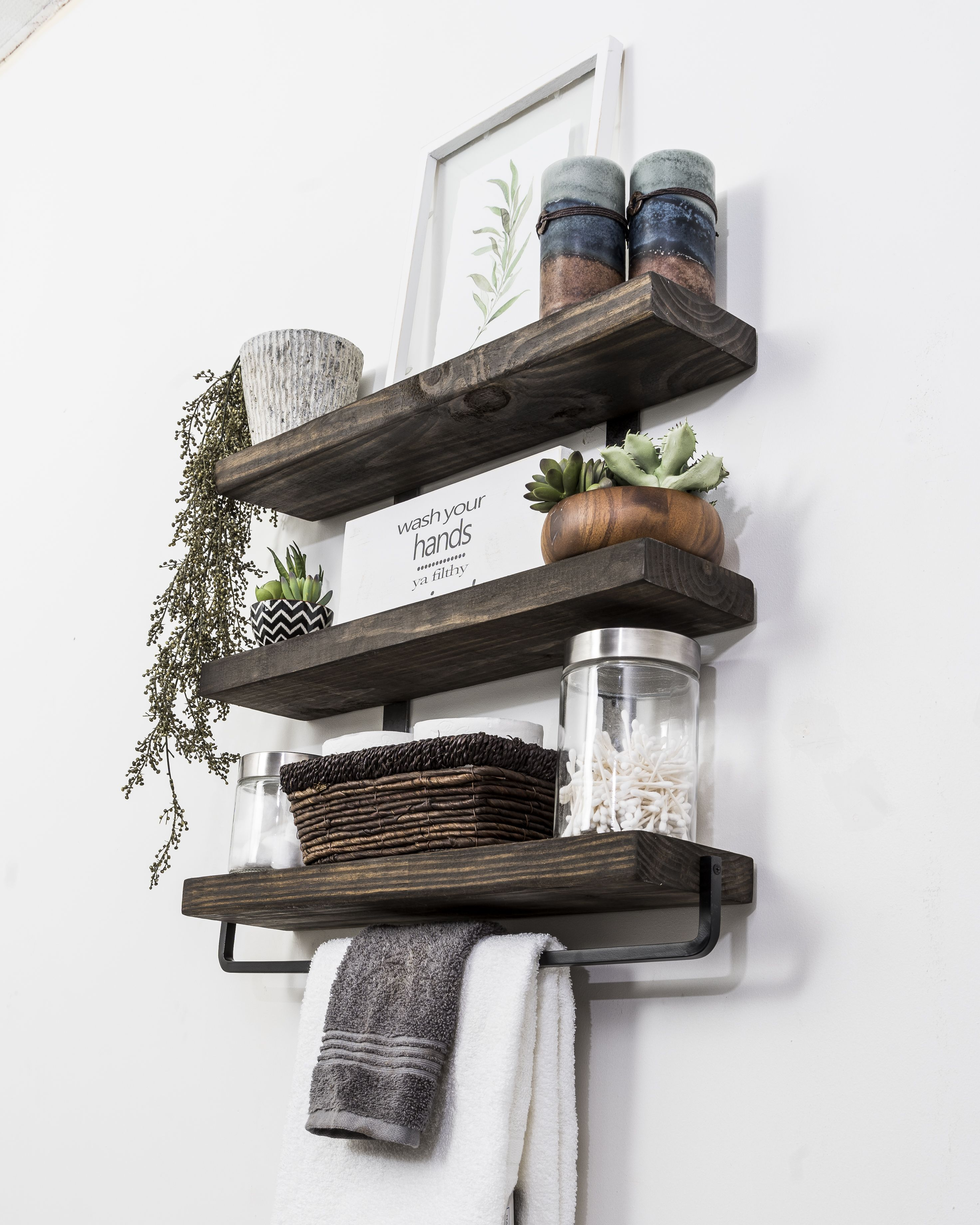 Home Industrial Floating Shelves Floating Shelves Wood