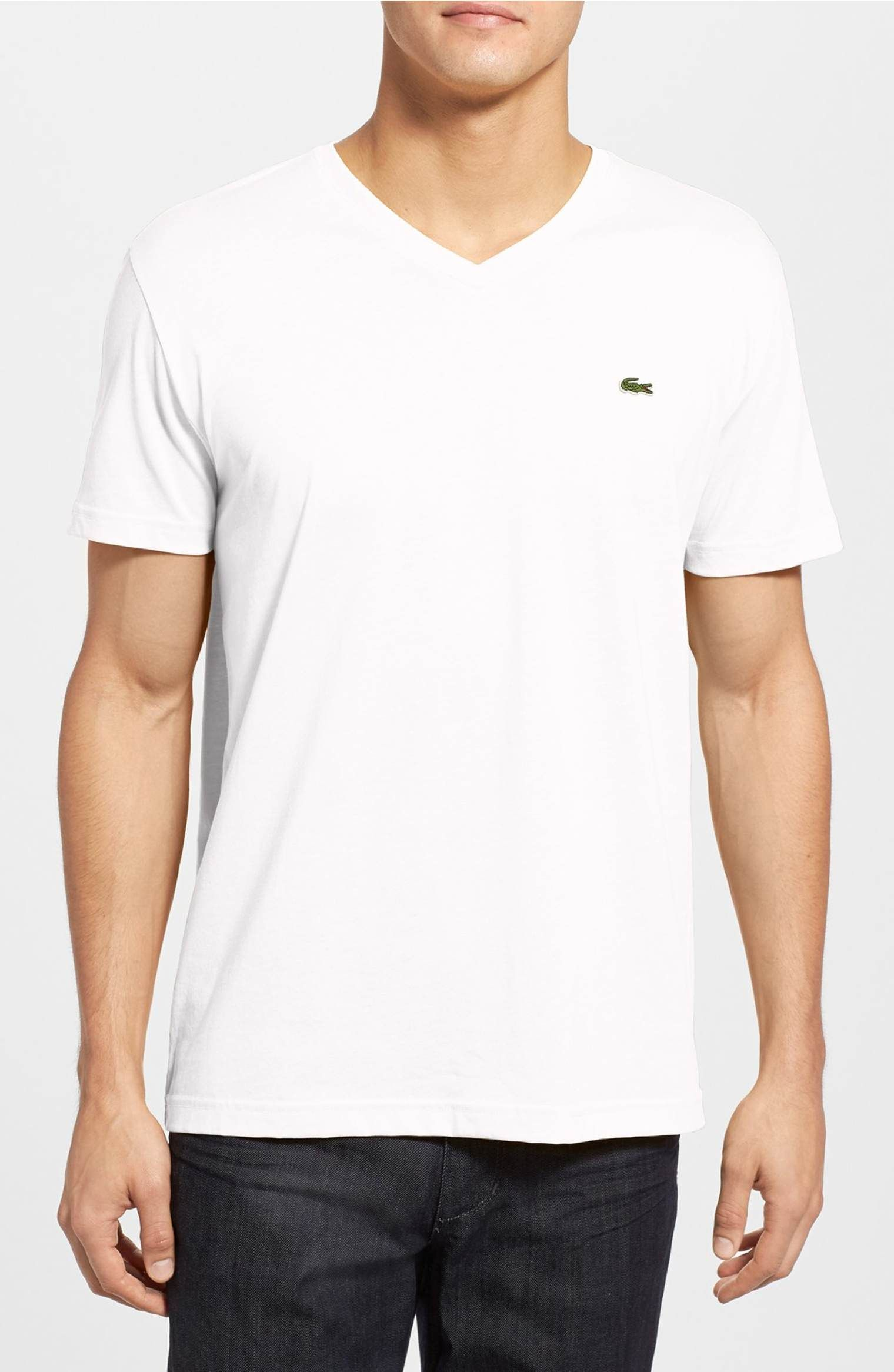 Main image lacoste pima cotton jersey vneck tshirt wish