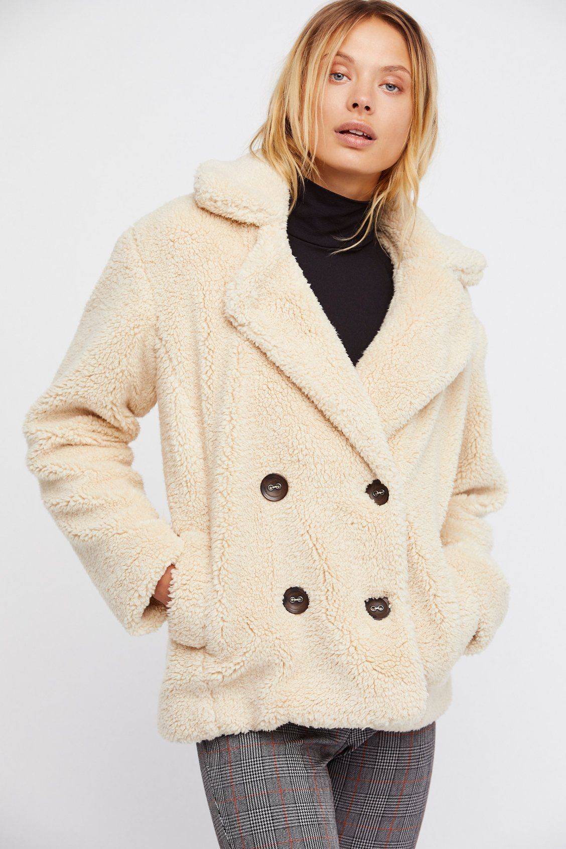 cabf97a5e1b2 Oatmeal Teddy Peacoat at Free People Clothing Boutique