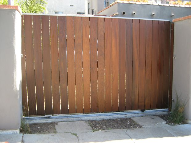 A Metal Frame With Wood Overlay Fences Amp Gates