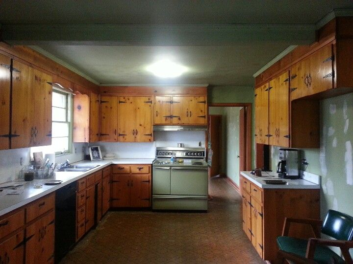 Knotty Pine Kitchen Home Is Where The Heart Is