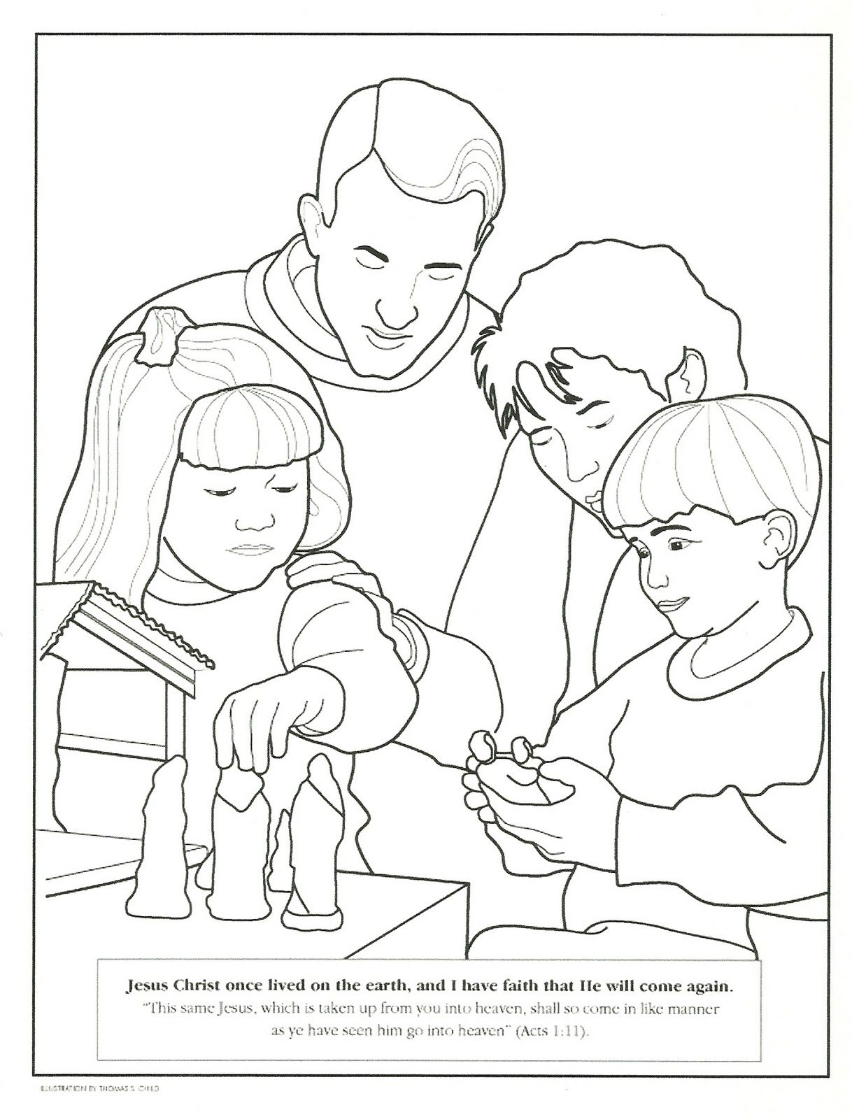 Happy Clean Living Primary 2 Lesson 46 Christmas Nativity Coloring Pages Lds Coloring Pages Saint Coloring