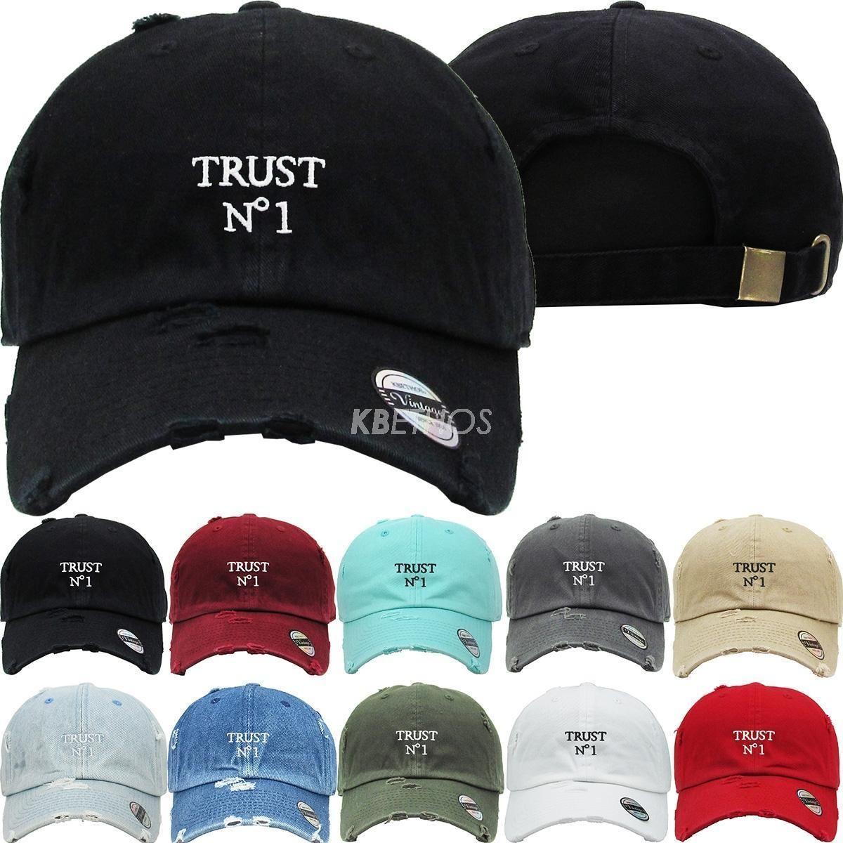 525dd53a758 Trust No1 Dad Hat Baseball Cap Unconstructed