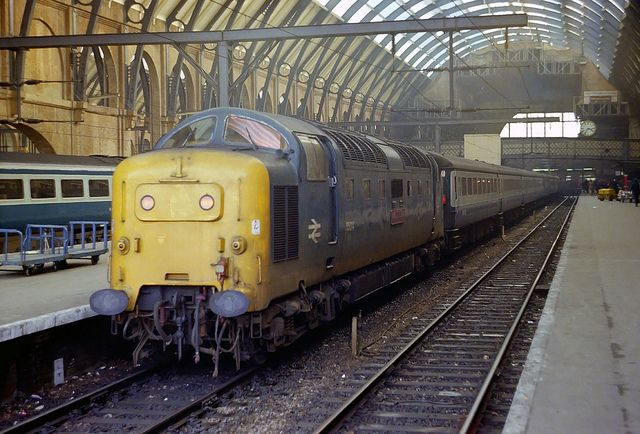 55014 'The Duke of Wellington's Regiment' at Kings Cross on 28th Feb 1980. (Andy Hoare)