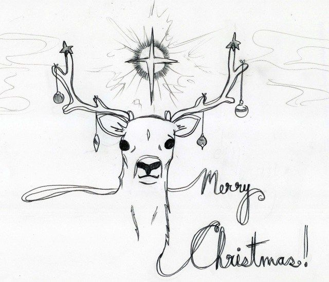 Merry christmas pencil sketch images download happy new year 2016