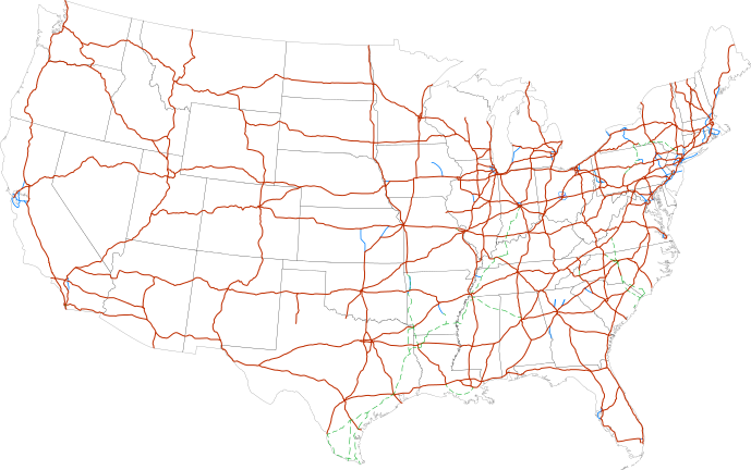 Map Of Current Interstates Interstate Highway System Wikipedia - Us road map interstate