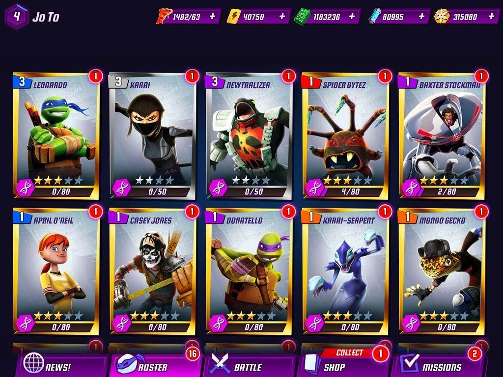 Teenage Mutant #ninja Turtles Legends Hank iOS Hack and Android Mod