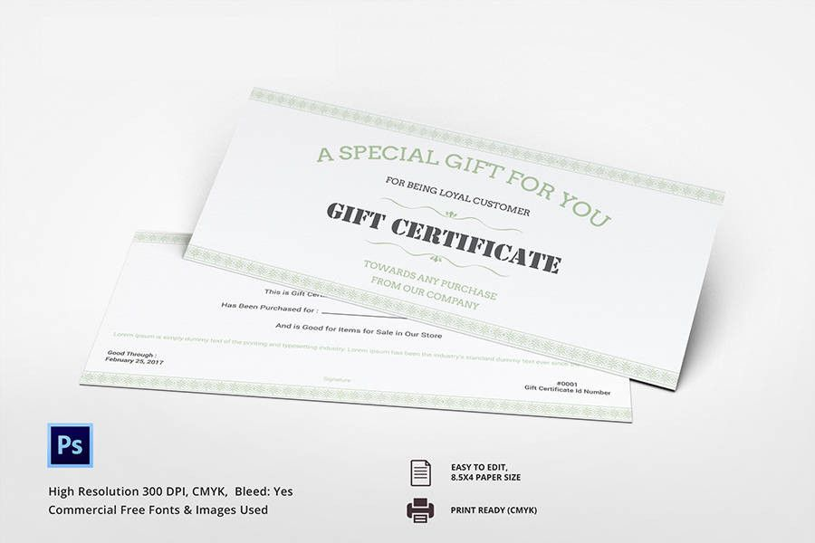 7 Free Gift Certificate Templates Spa Restaurant Travel Free