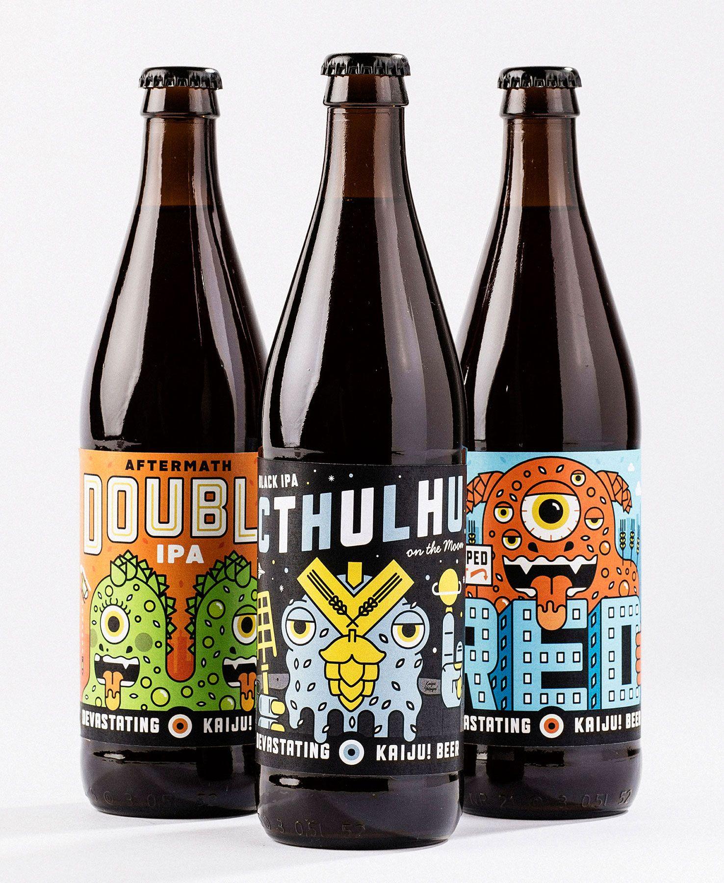 Kaiju! Beer Beer, Beer packaging, Craft beer labels