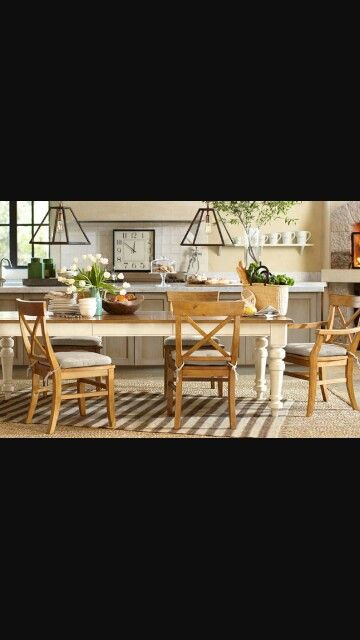 Love This 2 Tone Table Set  Future Dying Room Table Project New Dining Room Table For 2 2018