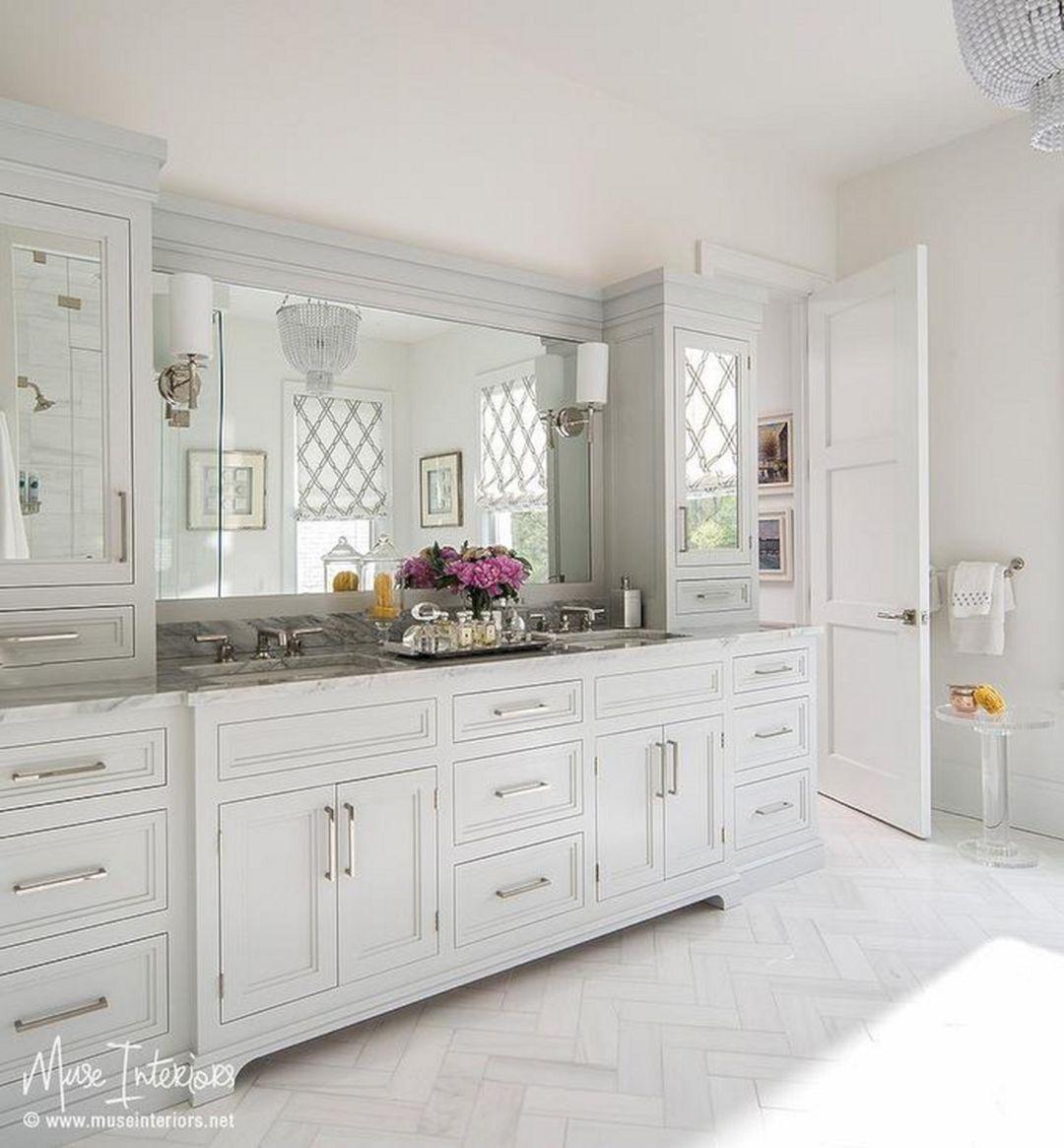 Elegant White Master Bedrooms: Elegant White Bathroom Vanity Ideas: 55+Most Beautiful