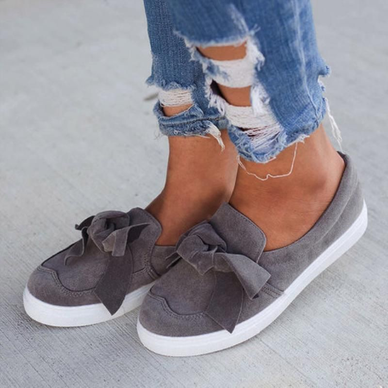 Women Loafers Casual Bowknot Shoes   Bowknot shoes, Casual
