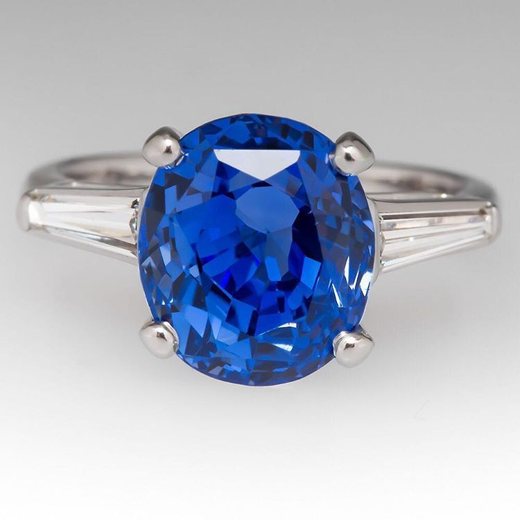 Wow.  A 5.88 carat sapphire in vibrant blue.