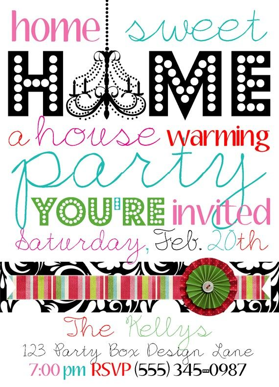 Super cute housewarming party invites Because it\'s never too late ...