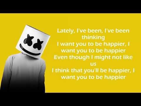 Marshmello ft. Bastille Happier (Lyrics Video) YouTube