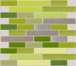 Steel Bamboo Lime Green Kitchen