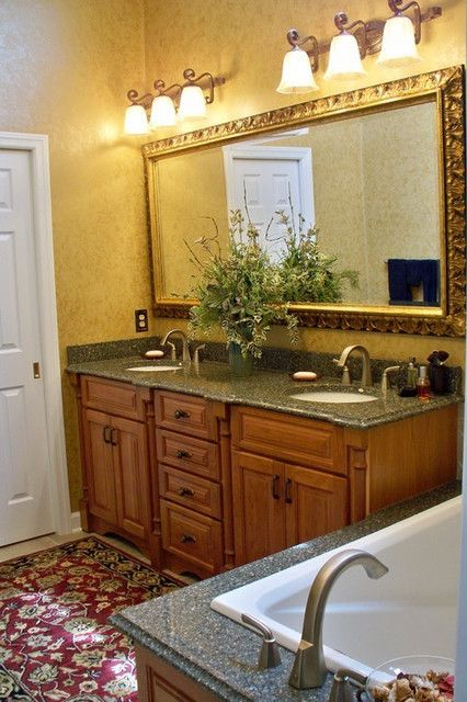 Bathroom Design, Fabulous Bathroom From Interior Design Columbus Ohio With  Elegant Wooden Vanity Design Also