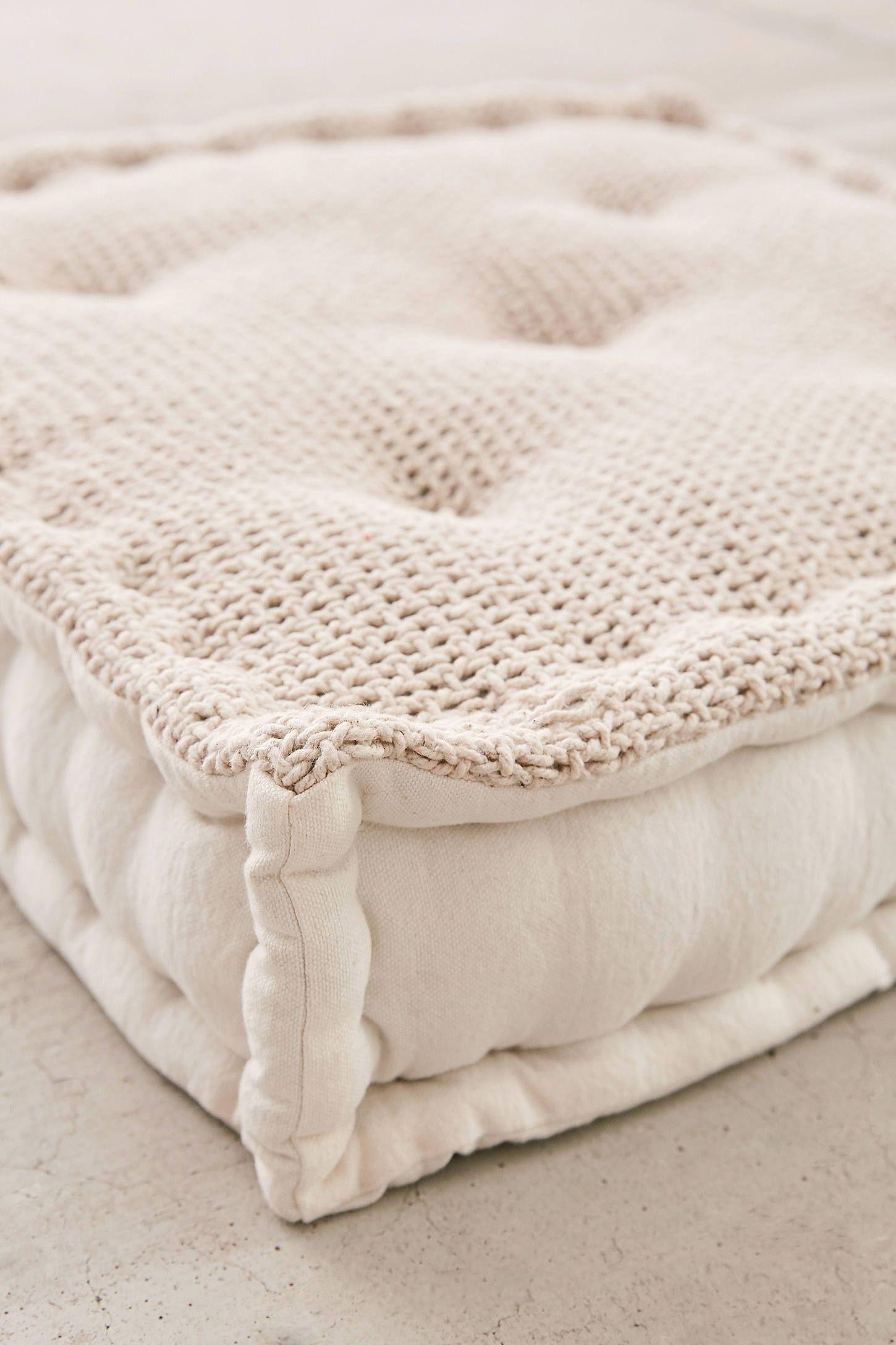 Knit Floor Pillow Floor Pillows Giant Floor Pillows Boho Floor