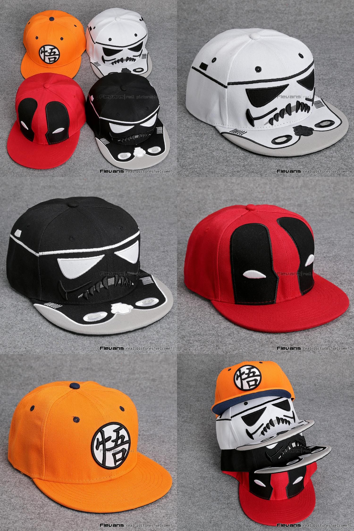 premium selection 8f827 c6bef new zealand italy visit to buy star wars deadpool dragon ball snapback caps  cool hat adult